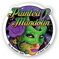 CS258 - Painted Mandolin Masked Lady Color Sticker