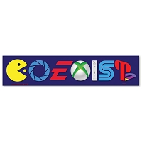CS259 - Coexist Video Games Parody Color Sticker