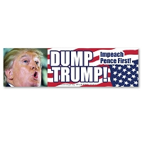 CM286 - Dump Trump! Impeach Pence First Color MINI Sticker