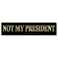 CM265 - NOT MY PRESIDENT Gold 3D Lettering Color Mini Sticker
