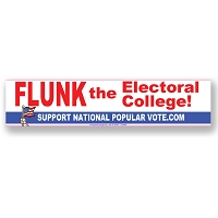 CS268-B - FLUNK the Electoral College Color Sticker