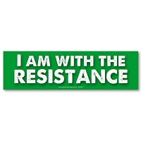 CS281 - I am with the Resistance Large Color Sticker Resist Activism