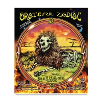 CS284A - Grateful Leo the Lion Dead Skeleton Zodiac Astrology Color Sticker