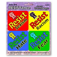 CS288-MAG  RESIST Sticker 4 Pack Color Sticker MAGNET