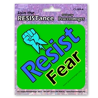 CS289-A - Resist Fear - Join the Resistance Color Sticker Anti Donald Trump