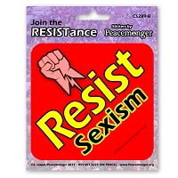 CS289-B - Resist Sexism- Join the Resistance Color Sticker Anti Donald Trump