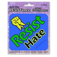 CS289-D - Resist Hate - Join the Resistance Color Sticker Anti Donald Trump
