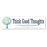 CS301 Think Good Thoughts Brain Tree Color Sticker