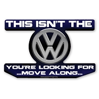 CS320 VW Volkswagen Star Wars Jedi Parody Sticker
