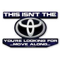 CS321 Toyota Star Wars Parody Jedi Mind Trick Color Sticker
