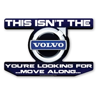 CS322 Volvo Star Wars Parody Jedi Mind Trick Color Sticker