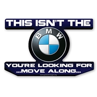 CS323 BMW Star Wars Parody Jedi Mind Trick Color Sticker