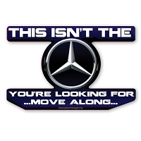 CS325 Mercedes Benz Star Wars Parody Jedi Mind Trick Color Sticker