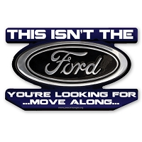 CS326 Ford Star Wars Parody Jedi Mind Trick Color Sticker