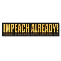 CM284 - IMPEACH ALREADY No Trump Never Trump Color MINI Sticker