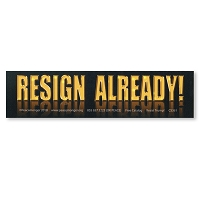 CM287 - RESIGN ALREADY No  Donald Trump Never Trump Color MINI Sticker