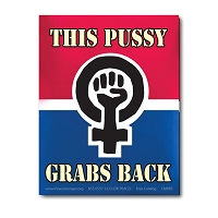 CS368-MAG This Pussy Grabs Back Women's March Protest Rally Sticker MAGNET