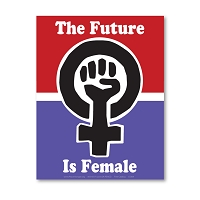 CS369 The Future is Female Women's March Protest Rally Sticker Decal