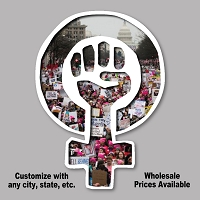 CS371 Woman Power Symbol Women's March Protest Cut Out Sticker Decal