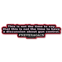 CS376-MAG This is not the time NEVERAGAIN Anti Gun Quote Bumper Sticker Magnet