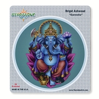 CS382 Ganesha Elephant Headed Hindu God of Wisdom Sticker Decal