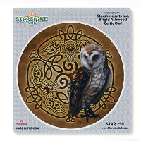 CS383 Celtic Owl Brigid Ashwood Tribal Totem Sticker Decal