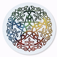 CS386 Celtic Elemental Pentacle Brigid Ashwood Tribal Totem Sticker Decal