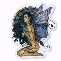 CS387 Companions Fairy Goddess Brigid Ashwood Fantasy Art Sticker Decal