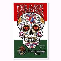 CS390 Four Days of the Dead Riviera Maya Mexico Sticker Decal