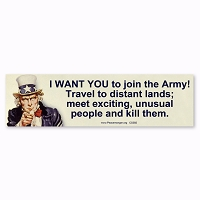 CS392 Uncle Sam Wants YOU to Join the Army Anti Recruitment Peace Sticker Decal