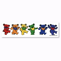 A455 Grateful Dead Rainbow Dancing Bears Art Decal Window Sticker
