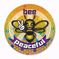 CS456 Bee Peaceful Save the Bees Give Bees a Chance Sticker Decal
