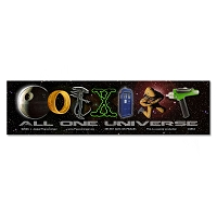 CS654 Coexist All One Universe Sci Fi Parody Death Star LOTR Alien X-Files Dr. Who 2001: A Space Odyssey Star Trek Full Color Sticker