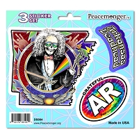 DS004 Arkansas State Deadhead Jaspar Original Laughing Jack Grateful Dead 3 Sticker Set