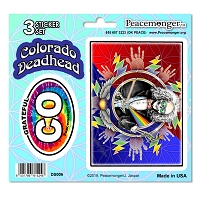 DS006 Colorado Deadhead SYF Lightning Bolt Grateful Dead State 3 Sticker Set