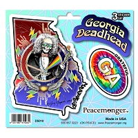 DS010 Georgia Deadhead SYF Lightning Bolt Grateful Dead State 3 Sticker Set