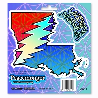 DS018 Louisiana Deadhead Lightning Bolt Grateful Dead Steal Your Face Sticker