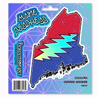 DS019 Maine Deadhead Lightning Bolt Steal Your Face Grateful Dead Sticker Set