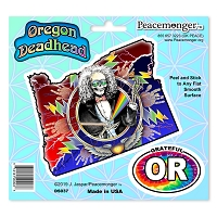DS037 Oregon Deadhead Grateful Dead States Lightning Bolt Sticker Decal