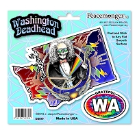 DS047 Washington State Deadhead Jaspar Original Laughing Jack Grateful Dead 3 Sticker Set