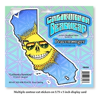 DS055 California Deadhead Grateful Dead States Sunshine 3 Stickers Decal Jerry Garcia Tour
