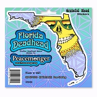 DS059-MAG Grateful Florida Deadhead Dead State Skeleton Sun Sunshine Daydream 3 Magnet Set