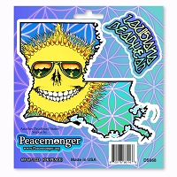 DS068 Louisiana Deadhead Skeleton Sunshine Daydream Grateful Dead  Sticker Decal