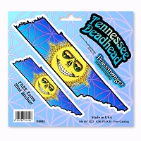 DS092 Grateful Tennessee Deadhead Dead State Skeleton Sun Sunshine Daydream 3 Sticker Decal Set