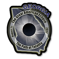 EC002 - Georgia -  Great American Eclipse 2017 Sticker