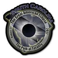 EC006 - South Carolina  -  Great American Eclipse 2017 Sticker
