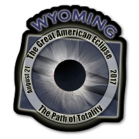 EC007 - Wyoming  -  Great American Eclipse 2017 Sticker