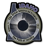 EC008 - Idaho  -  Great American Eclipse 2017 Sticker