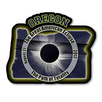 EC009 - Oregon  -  Great American Eclipse 2017 Sticker