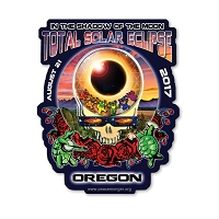 EC011 - Oregon Eclipse Your Face Grateful Dead Total Solar Eclipse 2017 Sticker
